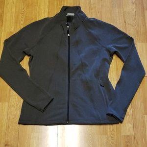 Athleta XL herringbone zip up jacket